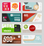 Gift voucher certificate coupon Royalty Free Stock Images