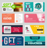 Gift voucher certificate coupon Royalty Free Stock Photos