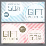 Gift voucher certificate coupon template Royalty Free Stock Photography