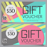 Gift voucher certificate coupon template Royalty Free Stock Image