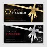Gift voucher, certificate or discount card template for promo co Royalty Free Stock Photo
