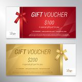 Gift voucher, certificate or discount card template for promo co Stock Photo