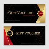 Gift voucher, certificate or discount card template for promo co Royalty Free Stock Photos