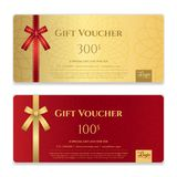 Gift voucher, certificate or discount card template for promo co Royalty Free Stock Photography