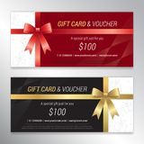 Gift voucher, certificate or discount card template for promo co royalty free illustration