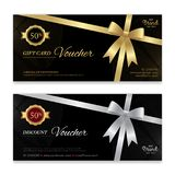 Gift voucher, certificate or discount card template for promo co. Mpliment Royalty Free Stock Photos