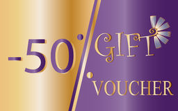 Gift voucher, certificate, discount coupon Stock Image