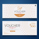 Gift Voucher Colorful,certificate coupon design, Vector illustration. Royalty Free Stock Images