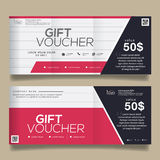 Gift Voucher Colorful,certificate coupon design, Vector illustration. Stock Photo