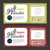 Gift Voucher Colorful,certificate coupon design, Vector illustration. Stock Photography