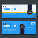 Gift Voucher Colorful,certificate coupon design, Vector illustration. royalty free illustration