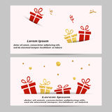 Gift voucher coupon design template. stock illustration