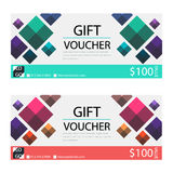 Gift voucher,Coupon template. With flat design Royalty Free Stock Photos