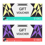 Gift voucher,Coupon template. With flat design Stock Image