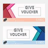Gift voucher,Coupon template with flat design. Template, clean and modern pattern Royalty Free Stock Photography