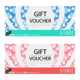 Gift voucher,Coupon template with flat design. Template, clean and modern pattern Stock Photo