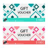 Gift voucher,Coupon template with flat design. Template, clean and modern pattern Royalty Free Stock Photo