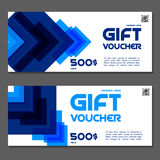 Gift voucher. Coupon and voucher template for company corporate. Gift voucher. Vector, illustration. Coupon and voucher template for company corporate style Stock Photo