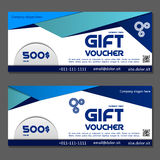 Gift voucher. Coupon and voucher template for company corporate. Gift voucher. Vector, illustration. Coupon and voucher template for company corporate style Royalty Free Stock Photography