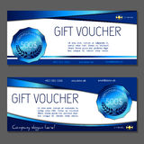 Gift voucher. Coupon and voucher template for company corporate. Gift voucher. Vector, illustration. Coupon and voucher template for company corporate style Royalty Free Stock Image
