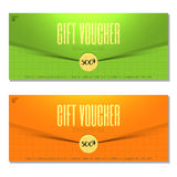 Gift voucher. Coupon and voucher template for company corporate. Gift voucher. Vector, illustration. Coupon and voucher template for company corporate style Stock Photos