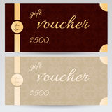Gift voucher design with abstract pattern. Vector vector illustration