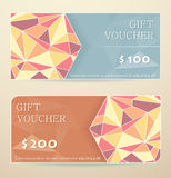 Gift voucher design Royalty Free Stock Photography