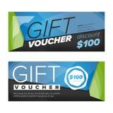 Gift voucher design Stock Image