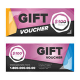 Gift voucher design Royalty Free Stock Images