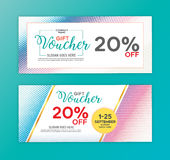 Gift voucher design template. Stock Photo