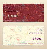 Gift voucher design Stock Photos