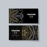 Gift voucher design template Royalty Free Stock Photography
