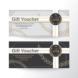 Gift voucher design vector template layout for business card gift set.Modern style Royalty Free Stock Image