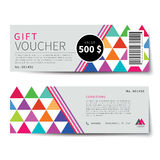 Gift voucher discount  template design. Gift voucher discount  template flat design Royalty Free Stock Photography