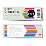 Gift voucher discount template flat design Royalty Free Stock Photography