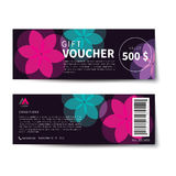 Gift voucher discount template flat design Royalty Free Stock Photo