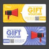Gift Voucher. Flat Design. Announcement Stock Photography