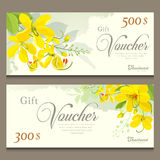 Gift voucher flower of Thailand Royalty Free Stock Photography