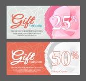 Gift voucher, Gift certificate royalty free illustration