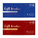 Gift voucher, gift certificate, gift card template in sport theme Stock Image
