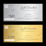 Gift voucher or gift certificate template in luxury theme royalty free illustration