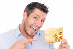 Gift voucher man Stock Photo