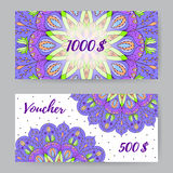 Gift Voucher With Mandala3 Stock Photography