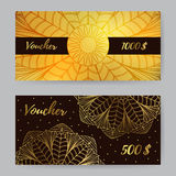Gift Voucher With Mandala2 Royalty Free Stock Photos
