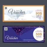 Gift Voucher Premier Color Design concept for gift coupon, invitation, certificate, flyer, banner, ticket. Royalty Free Stock Image