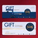 Gift Voucher Premier Color. Gift voucher design vector template Stock Images