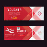 Gift Voucher Premier Color, Ribbons. Royalty Free Stock Photos