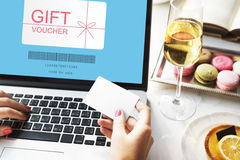Gift Voucher Promo Code Concept Stock Image