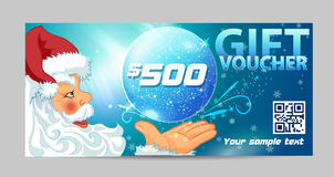 Gift voucher  Santa Claus Royalty Free Stock Photo