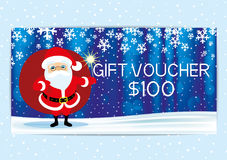 Gift voucher with Santa Claus. Stock Image